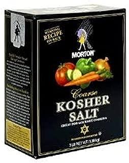 Morton Coarse Kosher Salt - 3 Lb Box