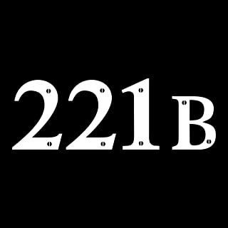 CCI 221B Sherlock Holmes Decal Vinyl Sticker Cars Trucks Vans Walls Laptop  White  5.5 x 2.25 in CCI1359