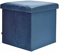 Sortio Home - Poef Teun Mini - Blauw - Velvet