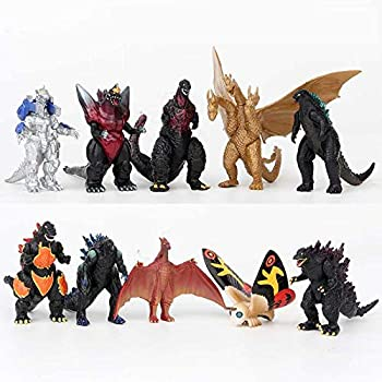 Godzilla Toys 2020 King of The Monsters Godzilla Toys Action Figures Set of 10 for Kids,Mini Dinosaur with Movable Joint Playsets 10PCS Cake Decorations  10Pack Edition