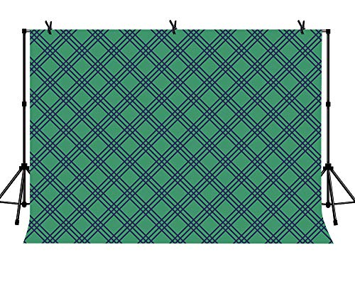 LYLYCTY 7x5ft Green Grid Backdrop for Golf Par-Tee Time Birthday or Retirement Party Selfie Photo Booth Picture Background LYZY0826