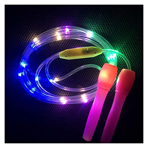 ZZL Anti Slip LED Light Up Jump Ropes Led Skipping Random Color Kids Children Single Luminous Body Exercise Fitness Fitness Tool Workout Gifts