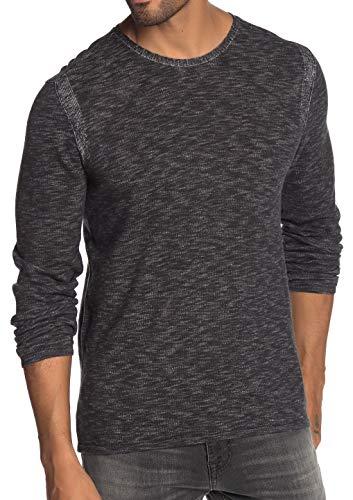 John Varvatos Star USA Men's Long Sleeve Crew Neck Space Dye Sweater Small Black