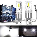 NATGIC H3 Led Fend Light Bulb Xenon Bianco 1700LM CSP Chip per fendinebbia Fendinebbia, 12V-24V (2-Pack)