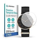 smartect Pellicola Protettiva per Generic Watch (32 mm) [2 Pezzi] - 9H Vetro Temperato Proteggi Schermo - Design Ultra Sottile - Applicazione Anti-Bolle - Anti-Impronte