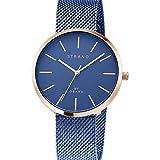 Strand by Obaku Damenuhr | Armbanduhr Damen | Watch Uhr Damen Blau - Hochwertige Skandinavische Designer Uhren Damen
