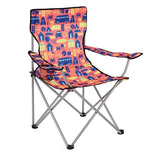 Board Masters Volkswagen Festival-Camping-Stuhl für Erwachsene – VW Bulli T1 Samba Bus – Leichter und Strapazierfähiger für Draußen