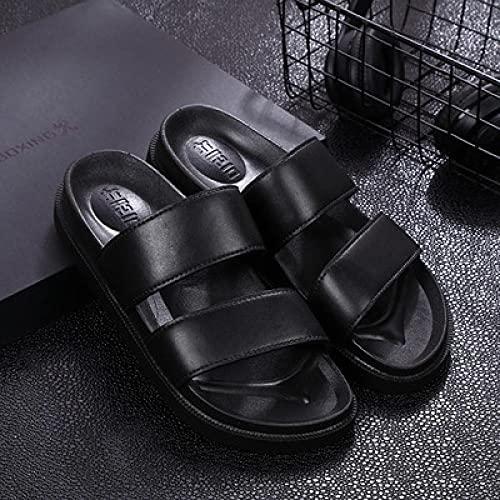 LLGG Mujeres Zapatos de Piscina Chanclas de Playa,Barrido Femenino Impermeable de Playa, baño Antideslizante al Aire Libre-Negro_37,Zapatillas de Ducha para el hogar