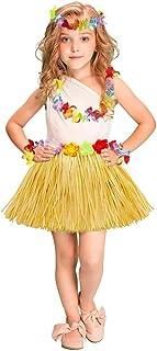 女の子のパーティードレス ハワイアンフリルグラススカートセット40cm大人の子供の休日パーティードレスダンススカート フォーマルなパーティーの誕生日の卒業プロムのダンスのボールのドレスドレス