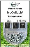 30Cuchillo Cuchilla de repuesto Cuchillas de recambio 0,45mm para McCulloch Rob R600R1000MC Culloch