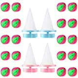20 Packs Hair Lint Remover Washing Ball Magic Laundry Ball and 4 Pieces Washing Machine Lint Catcher Float Filter Mesh Bag Dryer Hair Remover Set Reusable for Clothing Pet Hair Remover