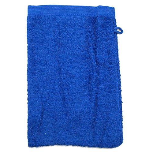 Gant de toilette - Bleu royal - Tissu éponge 500 g/m2 - 15 x 21 cm