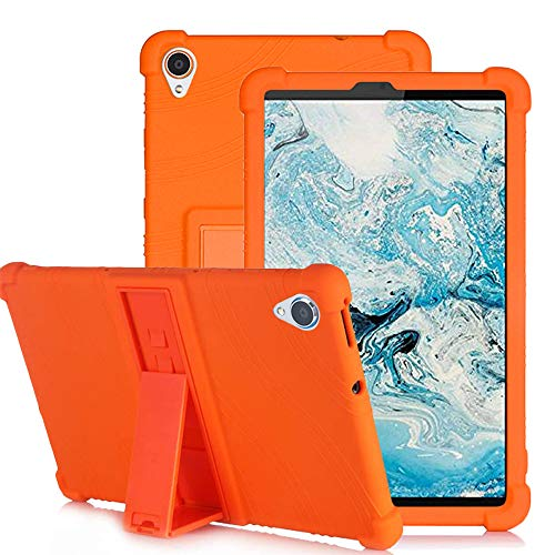 YGoal Silicone Case for Lenovo Tab M8 - Light Weight Kids Friendly Soft Shock Proof Protective Cover for Lenovo Smart Tab M8, Orange