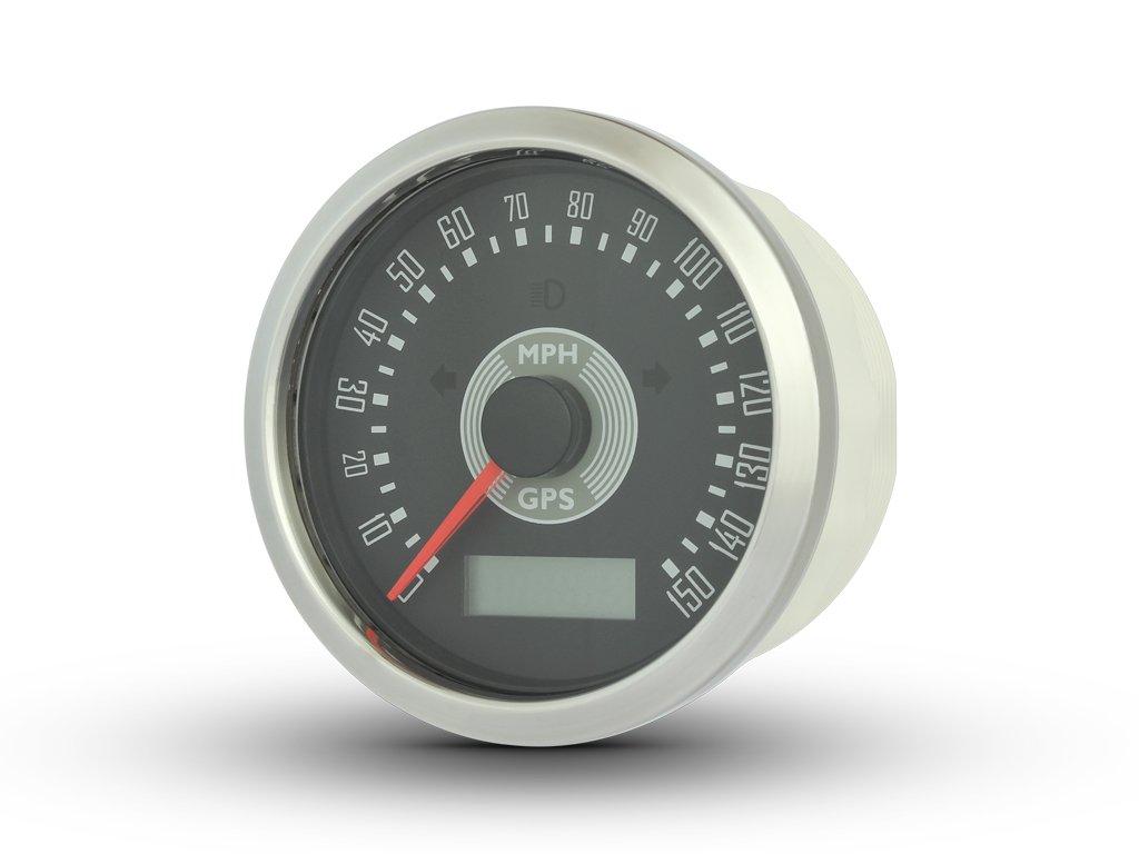 MPH Motorbike GPS Speedometer Smiths Style Cafe Racer Retro Custom Project