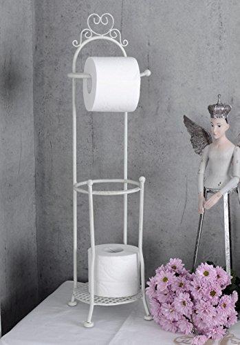 Toilettenpapierhalter Landhausstil WC Rollenhalter Weiss Klopapierhalter usm045 Palazzo Exclusiv