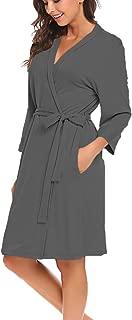 Women Robe Soft Kimono Robes Cotton Bathrobe Sleepwear Loungewear Short