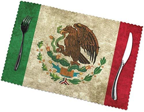 Tischsets 6er-Set für Esstisch Mexico Waschbare Tischsets für Küchentisch 12 x 18 Zoll