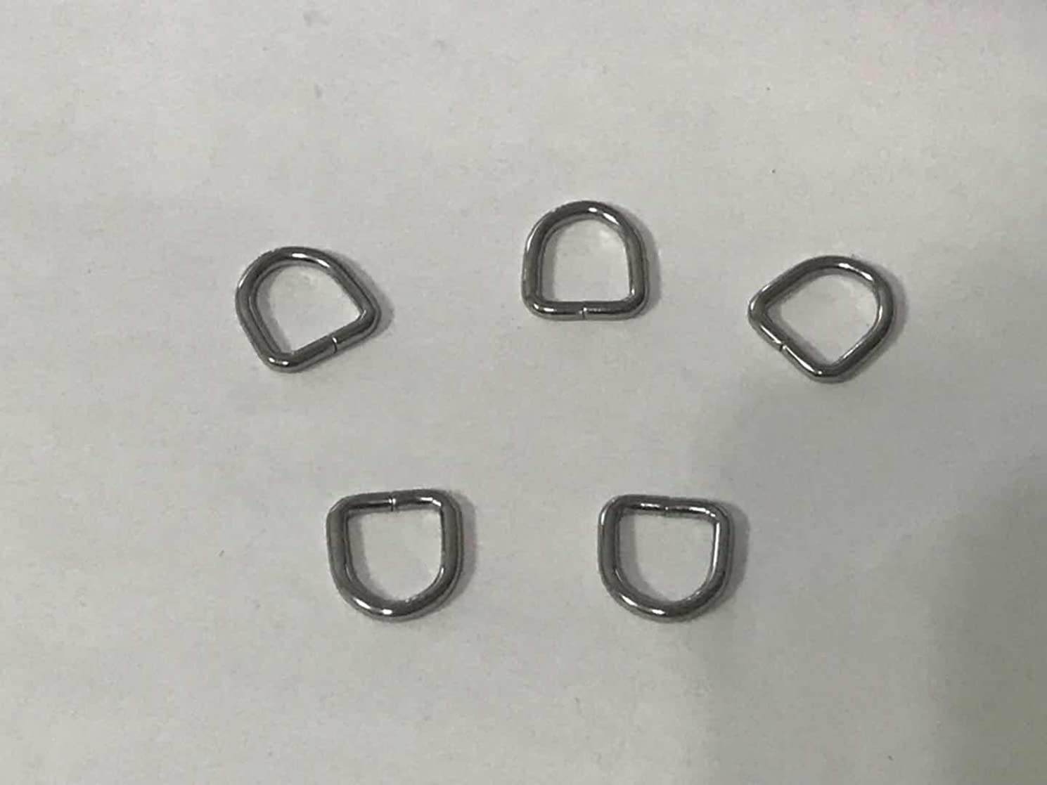 500 Pack 1x1cm Metal D Ring