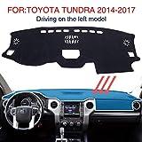 LYSHUI Accesorios Alfombrilla Antideslizante Alfombra Negra Almohadilla del Tablero de Instrumentos del automóvil Alfombrilla para el automóvil Alfombrilla, para Toyota Tundra 2014-2017