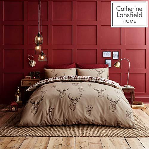 Catherine Lansfield Bettwäsche-Set, Hirsch-Design, Stag-Size-für Doppelbetten, Multi, King Size