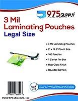 """975供給–3Milクリア法的サイズ熱Laminating Pouches–9"""" x 14.5""""–100Pouches"""