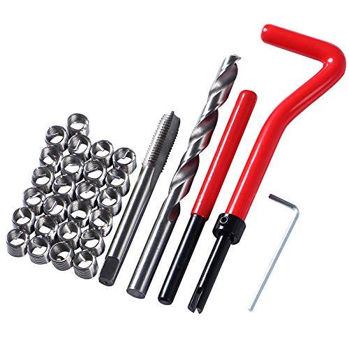 HunterBee Gewinde-Reparatur-Set, metrisches Gewinde, Reparatur-Einsatz, kompatibles Handwerkzeug-Set