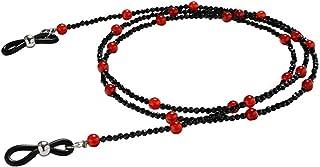 HEALLILY Chaîne de Lunettes Lunettes Légères Anti-Perdues Chaînes de Perles Sangle de Lunettes Anti-Dérapante 1Pc (Rouge)