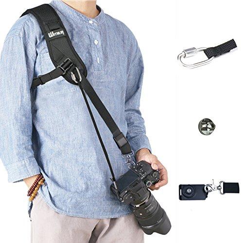 WITHLIN カメラショルダーストラップ 速写ストラップfor SLR DSLR Canon, Fuji, Nikon, Olympus, Panasonic...