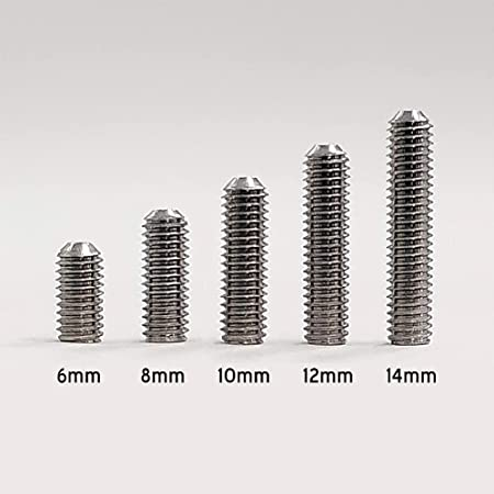 φ3mmイモネジ長さ比較表