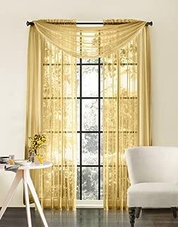 Amari Linen Sheer Window Treatment Panel Drape Curtains or Scarf Valance (2 Panels 110