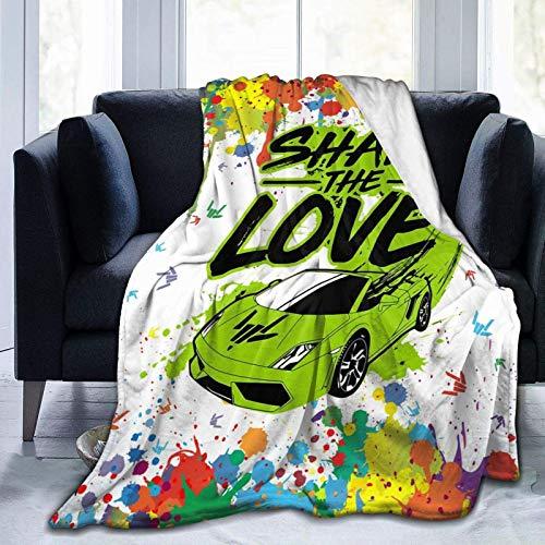 Manta de Microfibra Suave Share and The L-ove Plush Flanne Throws Manta para niños, niños, niñas, niños, niñas, para Cama, sofá, sillón, Liviana para Todos los Regalos de Temporada