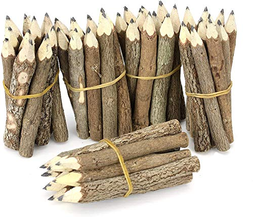 Windhorse Bleistift-Set aus Thailändischen Zweigen, extra klein, Schwarz, 5 Bündel