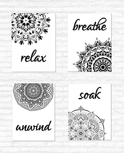 Mandala Flower Bathroom Wall Decor Quotes And Sayings Set Of 4 Unframed Great Gift For Bathroom Art Prints Signs Buy Online In Bosnia And Herzegovina At Bosnia Desertcart Com Productid 122107633
