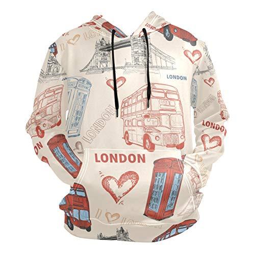 PUXUQU - Sudadera con capucha para hombre, diseño de...
