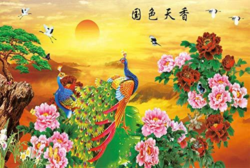 BeiMeng Puzzle En Bois Adulte 1000 Pièces Personnalisé Jouet Éducatif Pour Enfants Décompression Cadeau Décoration Peinture Chinois Couleur Ciel Parfum-75x50cm