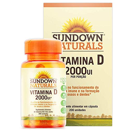 Vitamina D 2000UI – Sundown Naturals 200 cápsulas