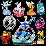 9 Pz Fai da Te Pokemon 5-20 Cm Charmander Popplio Litten Pikachu Rowlet Treecko Eevee Fennekin Anime Action Figure Bambole Giocattolo