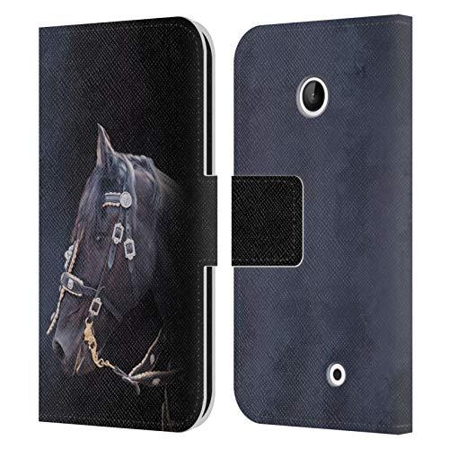 Head Case Designs Ufficiale Simone Gatterwe Cavallo Frisone Pegasus E Unicorni Cover in Pelle a Portafoglio Compatibile con Nokia Lumia 630