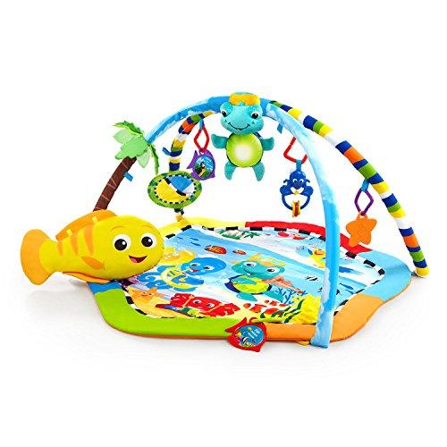 Baby Einstein, Rhythm of the Reef Tapis d'Eveil, Musique Lumières, Jouets Détachables et Coussin en forme de poisson