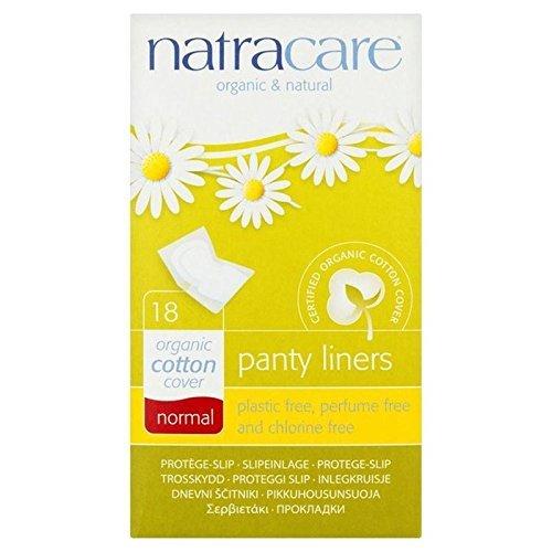 Orgánicos Protege-Slips De Algodón Normales Natracare Individuales Con Envoltorio 18 Por Paquete (Paquete de 2)