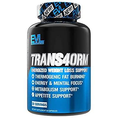 Evlution Nutrition Trans4orm - Complete Thermogenic Fat Burner for Weight Loss, Clean Energy and Focus with No Crash, Boost Metabolism, Suppress Appetite, Diet Pills