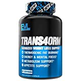 Evlution Nutrition Trans4orm - Complete Thermogenic Fat Burner for Weight Loss, Clean Energy and Focus with No Crash, Boost Metabolism, Suppress Appetite, Diet Pills (30 Servings)