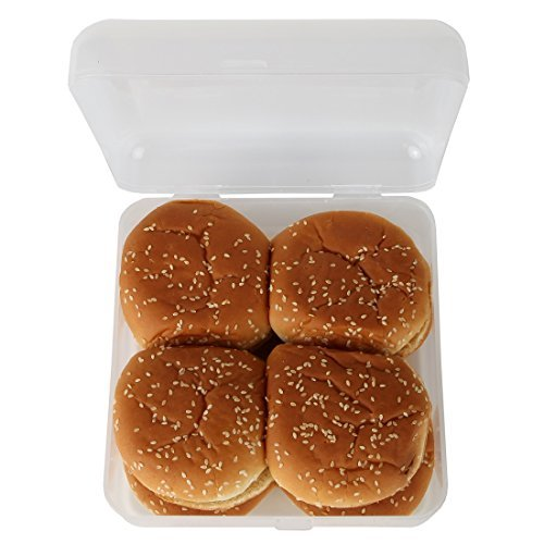 Home-X - Hamburger Bun Storage Container, See-Through Container Keeps Buns Fresh for Longer and Prevents Staling so You Can Enjoy and Re-use Far Past Opening
