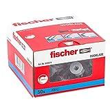 Fischer 545675 Duoblade, Tasselli Autoforanti Espandenti per Cartongesso, 50 Pezzi, Grigio/Rosso