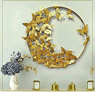 Decor India Metal Wall Decor Hanging, Butterfly Design with Wall Mounted & Hanging Modern Art || Diameter 15 inch ||