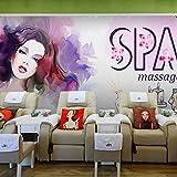 Zybnb Mural 3d Moda 3D mural de la belleza sala de estar sofá TV fondo pared cafetería casa dormitorio tienda de ropa papel tapiz mural