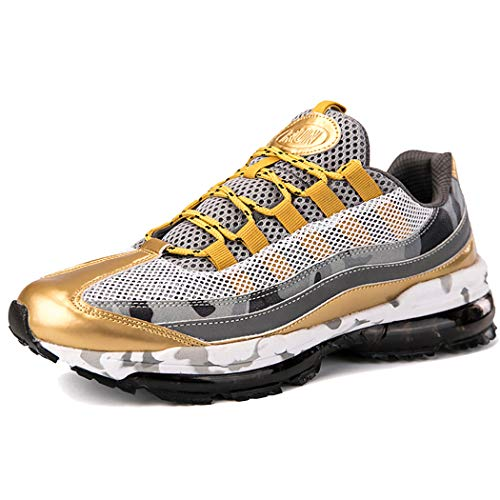 Veluckin Zapatillas de Running para Hombre,Dorado,39EU