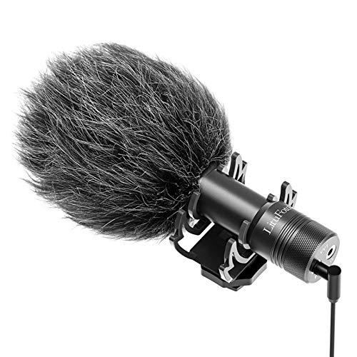 Micrófono de vídeo profesional para cámara de vídeo, micrófono de teléfono para Samsung Huawei Xiao Android, Canon, Nikon, Sony DSLR, videomicro de entrevistas, perfecto para grabar YouTube.