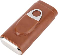 Humidor, caixa de charuto de couro, charuto artesanal ao ar livre para viagens(brown)