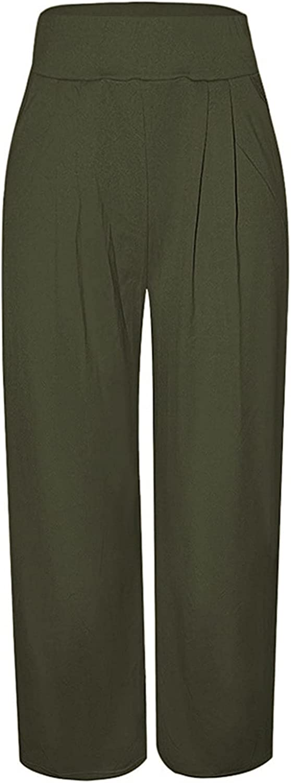Molisry Women Casual Wide Leg High Waist Pants Palazzo Lounge Trousers Long Pants Plus Size